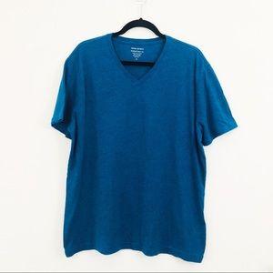 4/$25 Banana Republic Men's Blue Short Sleeved Tee